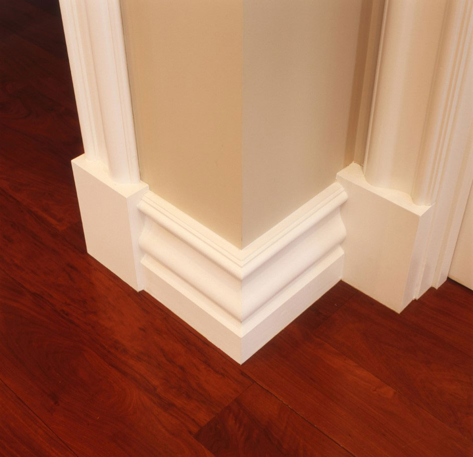 Architrave SA307A with SA307B Wainscott block | Skirting SA308A